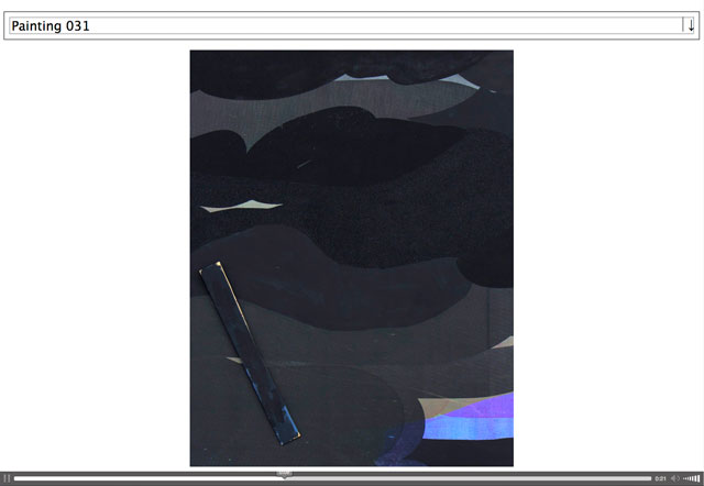 Laura Owens. Painting 031. Screenshot of the website why11.com.