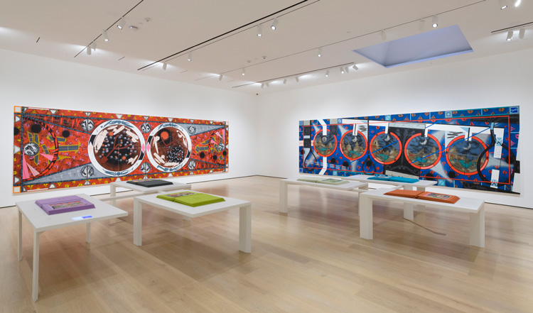Lari Pittman: Declaration of Independence, installation view, Hammer Museum, Los Angeles, 29 September 2018 – 5 January 2020. Photo: Jeff McLane.