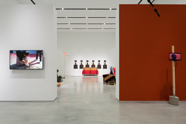 Perilous Bodies, installation view, image courtesy of Ford Foundation Gallery. Photo: Sebastian Bach.