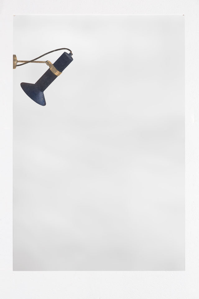 Michelangelo Pistoletto. Faretto, 1964. Photograph mounted on polished stainless steel, 120 x 80 cm (47 1/4 x 31 1/2 in). Courtesy Mazzoleni.