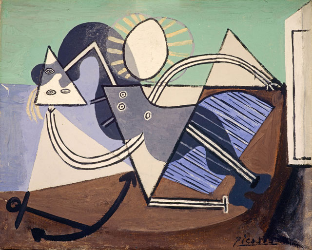 Pablo Picasso. Woman on the Beach (Nu sur la plage), 1932. Oil paint on canvas, 33 x 40 cm. The Penrose Collection. © Succession Picasso/DACS London, 2017.