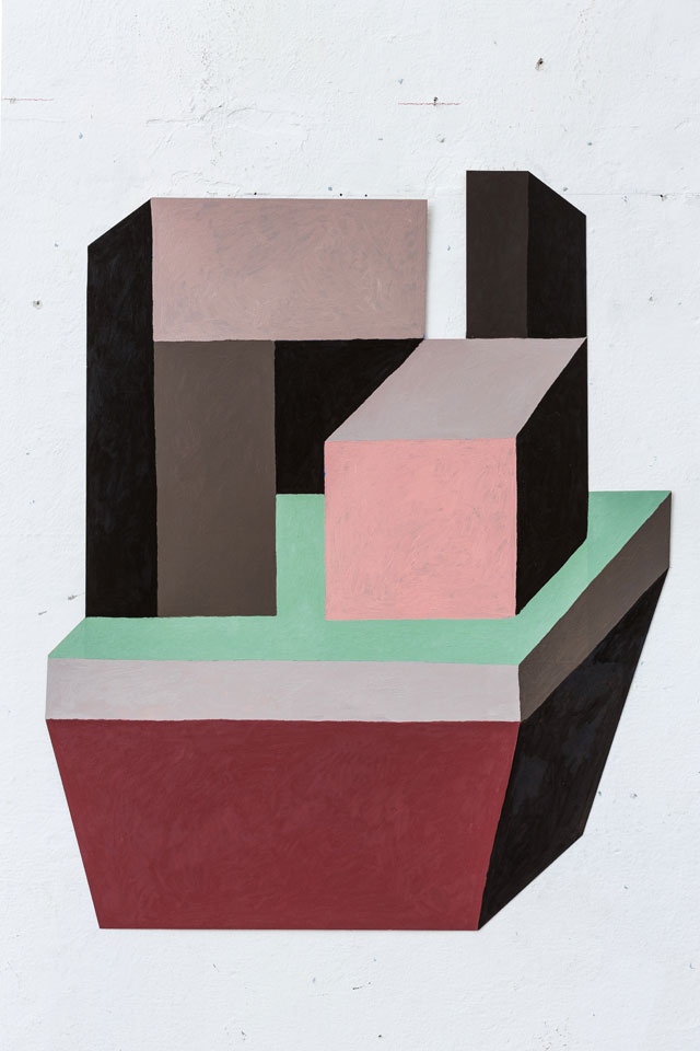 Nathalie Du Pasquier. Untitled, 2015. Oil on paper. Courtesy of the artist and the Institute of Contemporary Art at the University of Pennsylvania.