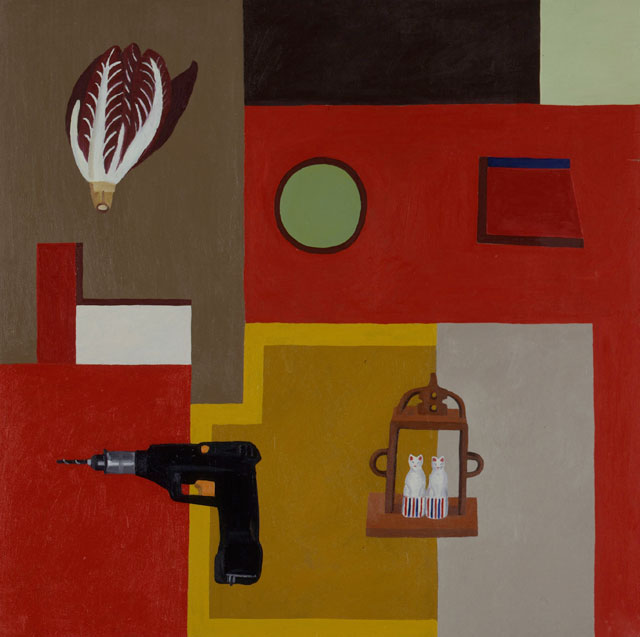 Nathalie Du Pasquier. Uomo Colombo, 1988. Oil on canvas. Courtesy of the artist and the Institute of Contemporary Art at the University of Pennsylvania.