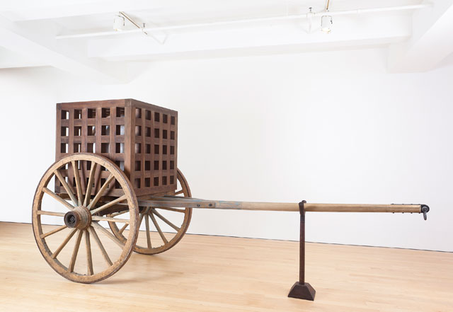 Martin Puryear. The Load, 2012. Wood, steel, glass, 231.1 x 470 x 188 cm (91 x 185 x 74 in). Glenstone Museum, Potomac, MD. Photograph: Christian David Erroi. © Martin Puryear, courtesy Matthew Marks Gallery.
