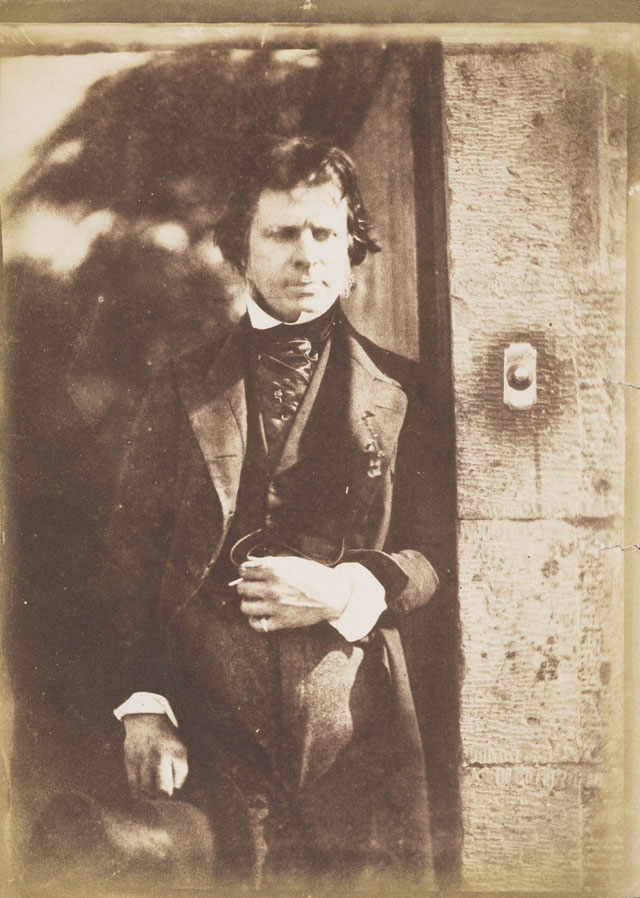 David Octavius Hill and Robert Adamson. David Octavius Hill, 1802–1870. Artist and pioneer photographer, 1843–1847. Calotype print, 21.30 x 15.30 cm. Scottish National Portrait Gallery.