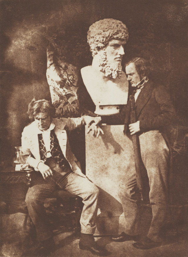David Octavius Hill and Robert Adamson. David Octavius Hill and Professor James Miller. Known as The Morning After 'He greatly daring dined', c1845. Calotype print, 19.80 x 14.60 cm. Scottish National Portrait Gallery.