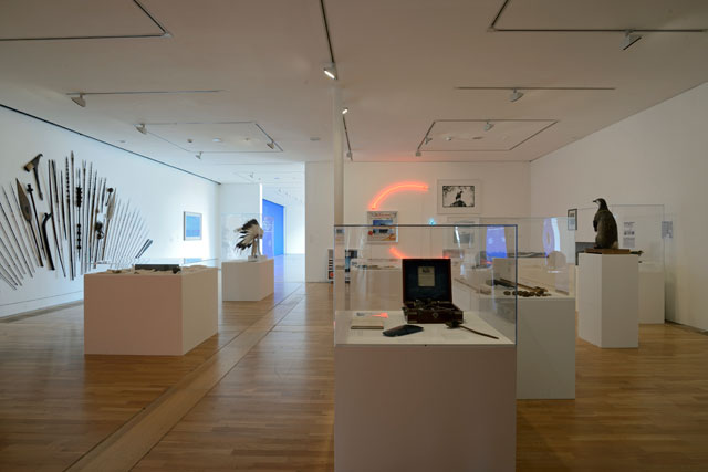 Simon Patterson. Safari: an exhibition as expedition. Installation view. Photograph: Nigel Green. Courtesy De La Warr Pavilion.