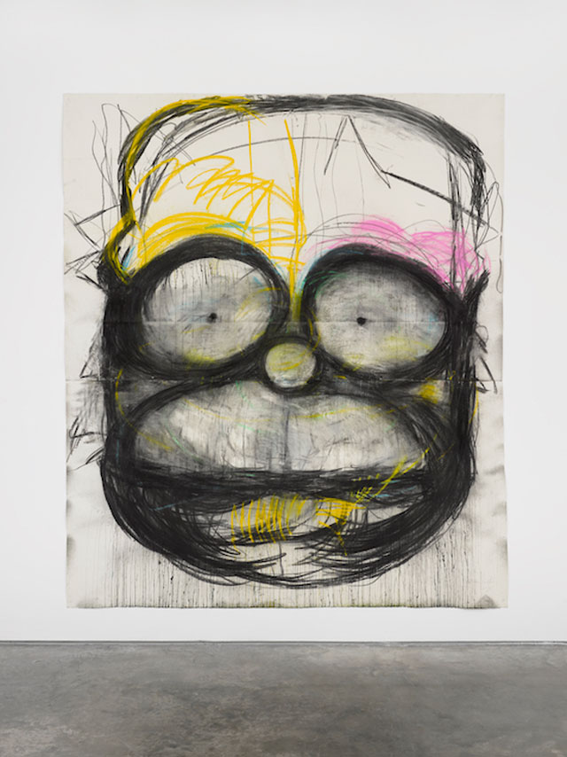 Joyce Pensato. Homer in the Hood, 2017. © Joyce Pensato; Courtesy Lisson Gallery.