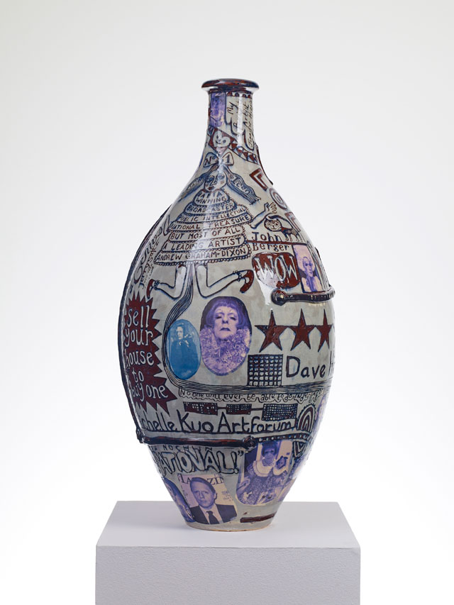 Grayson Perry. Puff Piece, 2016. Glazed ceramic. Courtesy the artist and Victoria Miro, London Photograph: Stephen White © Grayson Perry.