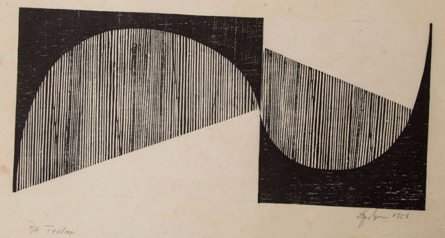 Lygia Pape. Tecelar, 1959. Woodcut on Japanese paper. © Projeto Lygia Pape.