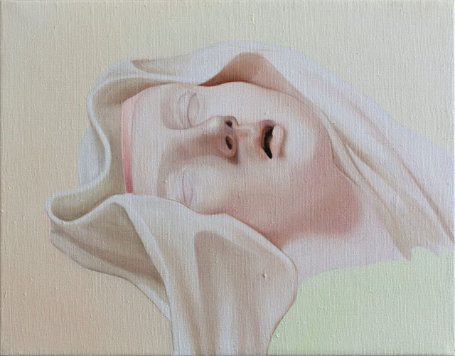 Vivian Greven. Theresa VI (Bernini), 2016. Oil on canvas, 35 x 45 cm. Courtesy of Dirk Kessler.