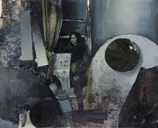 Daniel Pitin. Adela, 2013. Oil, acrylic and glued paper on canvas, 65 x 80 cm. Photograph: Jan Freiburg, courtesy of the artist.