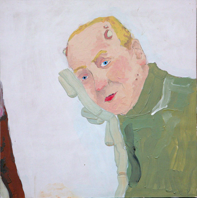 Richard Aldrich. Future Portrait #49, 2003. Acrylic on panel ,30.5 x 30.5 cm. © Richard Aldrich, 2003. Image courtesy of the Saatchi Gallery, London.