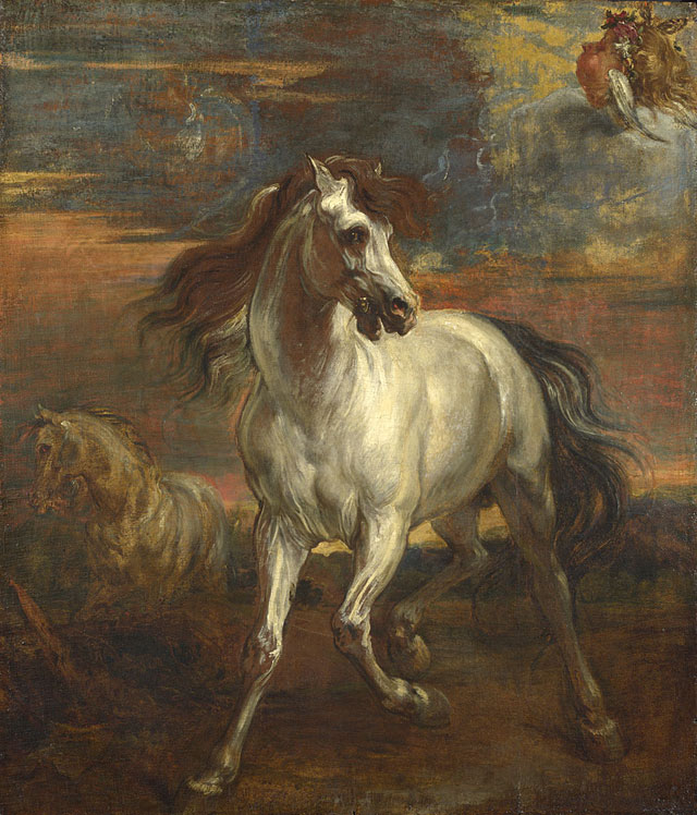 Style of Anthony van Dyck. The Horses of Achilles, 1635-45. Oil on canvas, 105.5 x 91.5 cm. © The National Gallery, London.