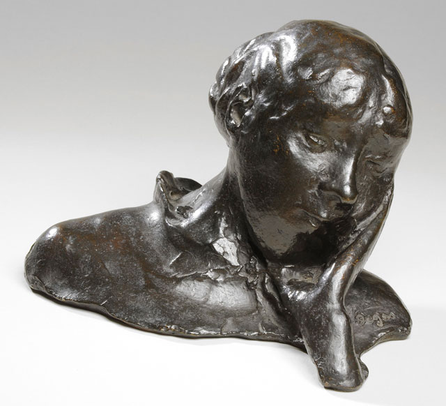 Hilaire-Germain-Edgar Degas. Portrait of a Woman: Head Resting on One Hand, after 1918. Bronze. Leeds Museums and Galleries (Leeds Art Gallery). © Leeds Museums and Galleries / Bridgeman Images.