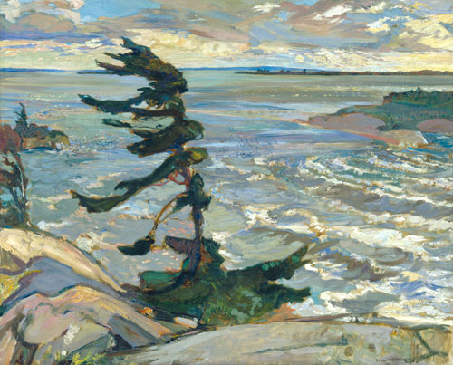 Frederick Horsman Varley.          <em>Stormy Weather, Georgian Bay,</em>        1921. Oil on canvas, 132.6 x        162.8 cm. National Gallery of        Canada, Ottawa. &copy; Varley<br>         Art Gallery, Town of Markham.        Photo &copy; NGC.