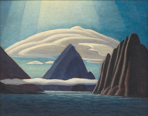 Lawren Harris. <em>Albert Harbour, North Baffin Island,</em> 1930. Oil on panel, 25.9 x 33.1 cm. Collection: A. K. Prakash. © Family of Lawren S. Harris