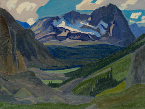 JEH MacDonald. <em>Mount        Oderay</em>, 1930. Oil on canvas,        40 x 52.5 cm. © Collection: Ash      K. Prakash