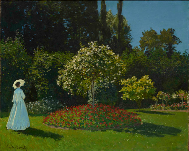 Claude Monet. Lady in the Garden, 1867. Oil on canvas, 80 x 99 cm. The State Hermitage Museum, St. Petersburg. Photograph © The State Hermitage Museum. Photograph: Vladimir Terebenin.