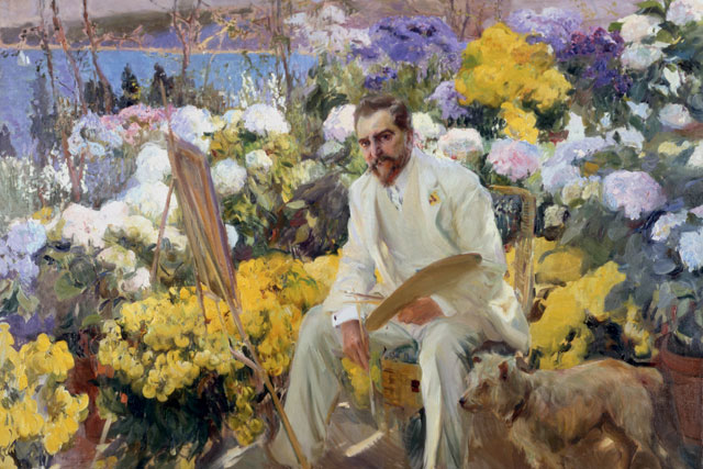 Joaquin Sorolla. Louis Comfort Tiffany, 1911. Oil on canvas, 150 x 225.5 cm. On loan from the Hispanic Society of America, New York, NY. Photograph © Courtesy of The Hispanic Society of America, New York.
