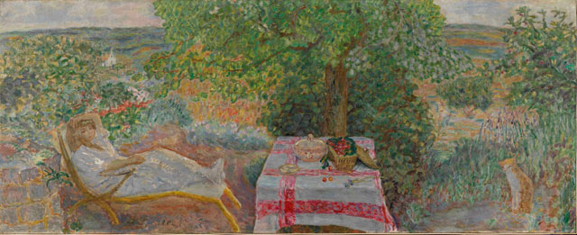 Pierre Bonnard. Resting in the Garden (Sieste au jardin), 1914. The National Museum of Art, Architecture and Design, Oslo. Photograph © Nasjonalmuseet for kunst, arkitektur og design/The National Museum of Art, Architecture and Design / © ADAGP, Paris and DACS, London 2015.