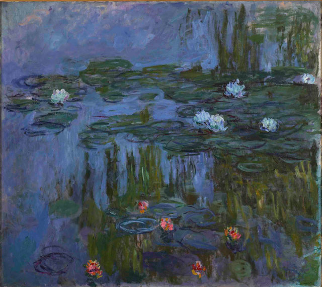 Claude Monet. Nympheas (Waterlilies), 1914-15. Oil on canvas, 160.7 x 180.3 cm. Portland Art Museum, Oregon. Photograph © Portland Art Museum, Portland, Oregon.