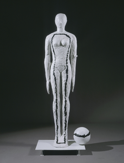 Mimmo Paladino,          <em>Untitled</em>, 2005.   Painted aluminium (unique), 74 x 30 x 19 in/199 x 77 x 48 cm. &copy; The artist, courtesy Waddington Galleries, London.