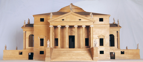 Model of the Villa Capra, known as the Villa Rotonda, 1970. Lime and beech wood with porcelain biscuit details, 65.5 x 140 x 140 cm. Centro Internazionale di Studi di Architettura Andrea Palladio, Vicenza. Photo Alberto Carolo