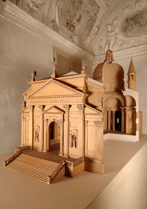 Model of the Church of the Redentore, 1972. Wood and plaster, 154 x 243.5 x 89 cm. Centro Internazionale di Studi di Architettura Andrea Palladio, Vicenza. Photo Alberto Carolo.