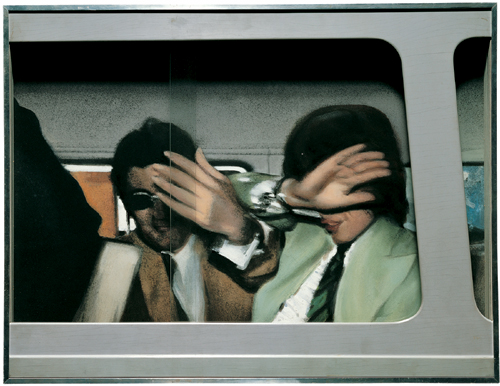 Richard Hamilton (1922 - ). <em>Swingeing London '67</em> (1967-68).  608 x 795 x 77mm,  Mixed media.  Pallant House Gallery, Chichester. Wilson Gift and Loan.