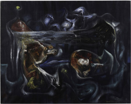 Roberto Matta. Crucifixion (Crucifixion), 1938. Oil on canvas, 28-1/2 x 35-3/4 in. Collection Pérez Art Museum Miami, gift of Jorge M. Pérez.