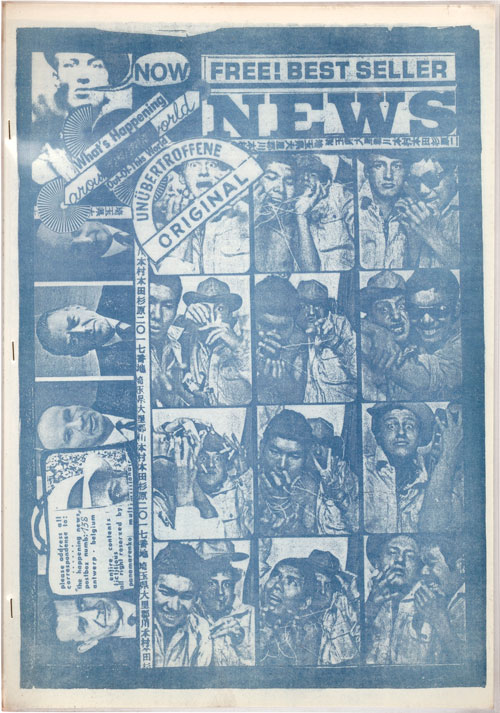 Panamarenko. Happening News, nr. 1, September 1965, Happening News, Gerealiseerd en uitgegeven door Panamarenko, Hugo Heyrman, Yoshio Nakajima en Wout Vercammen, courtesy Collection M HKA.