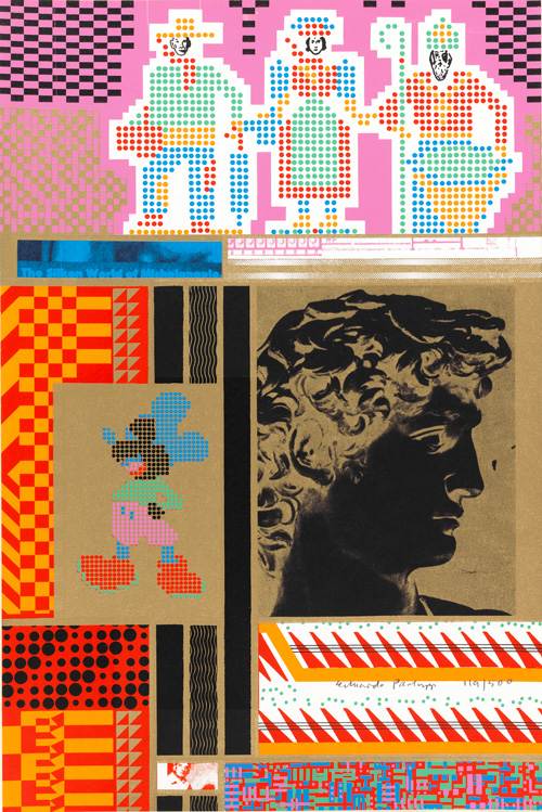 Eduardo Paolozzi. The Silken world of Michelangelo from Moonstrips Empire News Volume 1, Screenprint, 1967. © The Trustees of The Paolozzi Foundation.