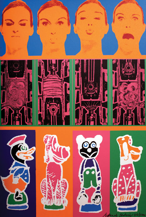 Eduardo Paolozzi. <em>Moonstrips Empire News: Secrets Of Internal Combustion Engine</em> 1967. Screenprint on paper. Copyright