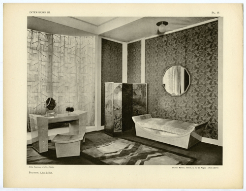 Boudoir with furnishings designed by Léon Jallot, reproduced from the folio Intérieurs III, 1928. Courtesy Marilyn F. Friedman