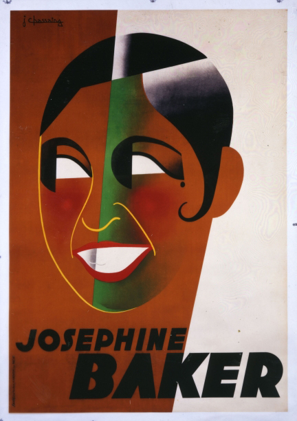 Poster depicting Josephine Baker, designed by Jean Chassaing, 1931. Courtesy the Rennert Collection, New York City