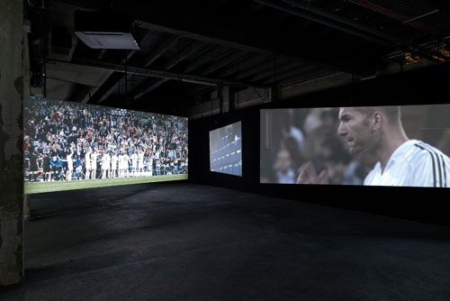 Douglas Gordon + Philippe Parreno. Zidane: a 21st Century Portrait, 2006. Courtesy of the artist.