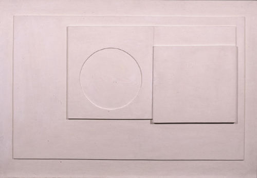 Ben Nicholson.  <em>1935 (White Relief)</em>, 1935. Oil carved and built up wood, 54.5 X 80 cm.  © Angela Verren-Taunt 2005. All rights reserved, DACS. Courtesy British Council Collection.