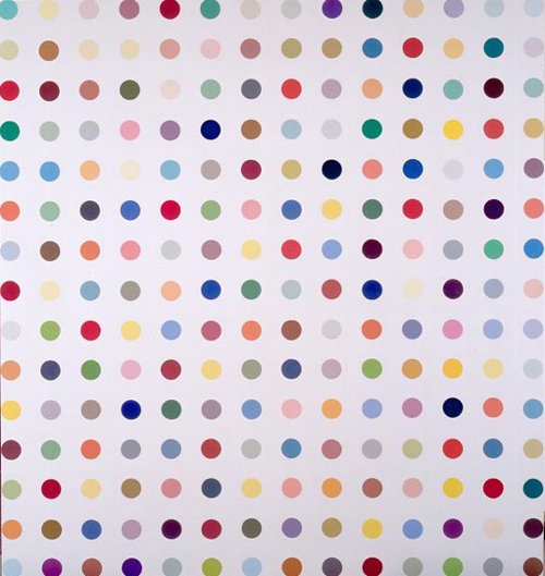 Damien Hirst. <em>Apotryptophanae</em>, 1994. 205.5 X 221 cm, household gloss and emulsion on canvas. © The Artist/Science. Courtesy British Council Collection.