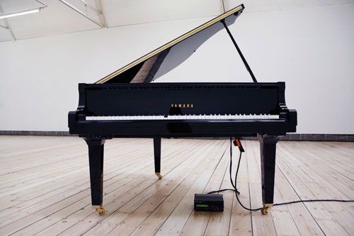 Katie Paterson. Earth–Moon–Earth (Moonlight Sonata Reflected from the Surface of the Moon), 2007. Disklavier grand piano. Installation view, Cornerhouse, Manchester 2011. Photograph © We are Tape. Courtesy of the artist.