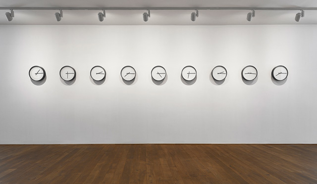 Katie Paterson. Timepieces (Solar System), 2014. Adapted clocks.