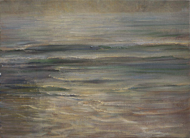 Celia Paul. Last Light on the Sea, 2016. Oil on canvas, 41 x 56.2 x 3.6 cm. Courtesy the artist and Victoria Miro, London. © Celia Paul.