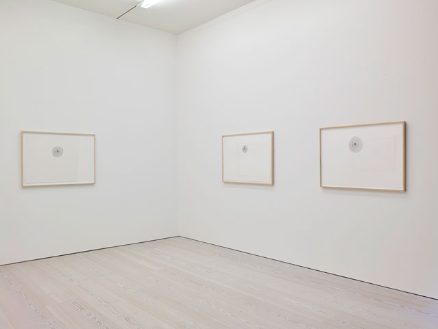 Giuseppe Penone, Three works from Fingerprints (1994), each 70.8 x 100.3 cm. Courtesy of Marian Goodman Gallery.