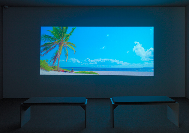 Installation view of Rodney Graham's Vexation Island, 1997. © Rodney Graham; Courtesy of Lisson Gallery. Photograph: Ken Allard.