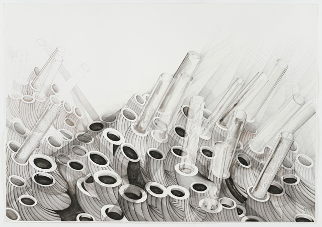Deanna Petherbridge. Fragility of the Aegean, 1981. Pen and ink on paper, 71 x 100 cm.