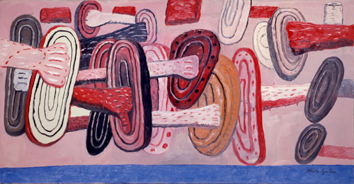 Philip Guston. Aegean II, 1977. Oil on canvas, 92.7 x 177.8 cm. Private collection.