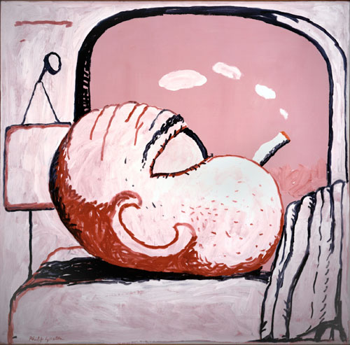 Philip Guston. Smoking I, 1973. Oil on canvas, 134 x 137.2 cm. Private collection.