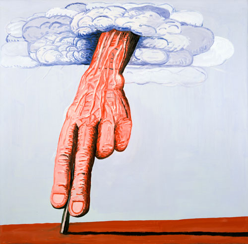 Philip Guston. The Line, 1978. Oil on canvas, 180.3 x 186.1 cm. Private collection.