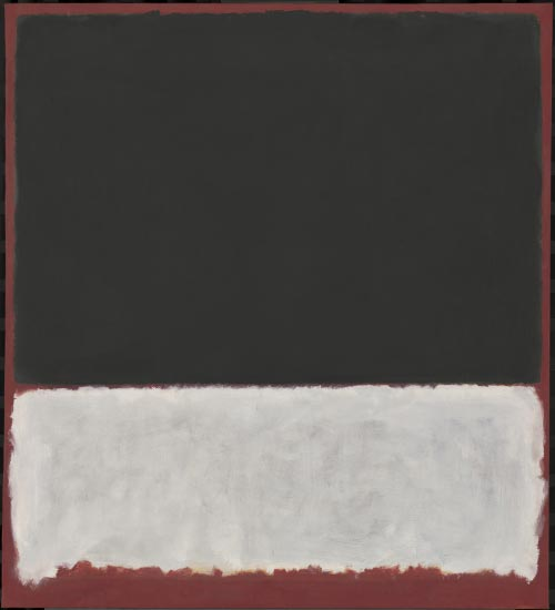 Mark Rothko. <em>Untitled,</em> 1956. Oil on canvas, 92 3/4 x 83 1/4 inches. National Gallery of Art, Washington DC. Photograph courtesy of the Board of Trustees, National Gallery of Art, Washington DC. Gift of The Mark Rothko Foundation, Inc., 1986.43.153. Copyright © 1998 Christopher Rothko and Kate Rothko Prizel / Artists Rights Society (ARS), New York