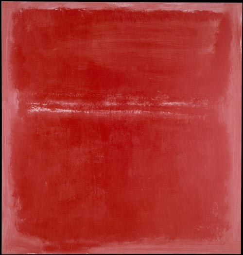 Mark Rothko. <em>Untitled,</em> 1970. Acrylic on canvas, 60 1/4  x 57 1/8 inches. National Gallery of Art, Washington DC. Photograph courtesy of the Board of Trustees, National Gallery of Art, Washington DC. Gift of The Mark Rothko Foundation, Inc., 1986.43.173. Copyright © 1998 Christopher Rothko and Kate Rothko Prizel / Artists Rights Society (ARS), New York